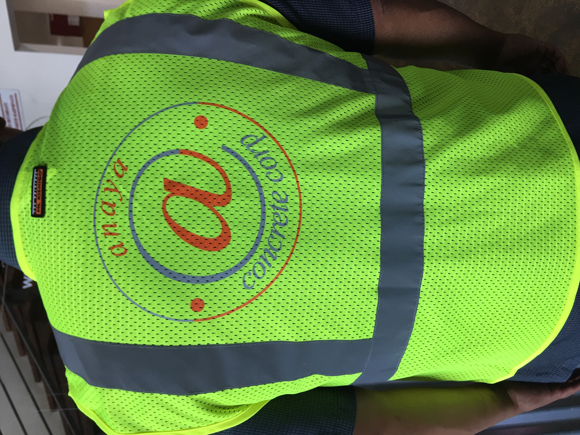 safety vest screenprinted