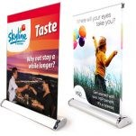 Mini Table Top Retractable Banner Stand w/ Graphic - 12
